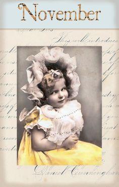 "Victorian ""Calender Girls"" ~ November"