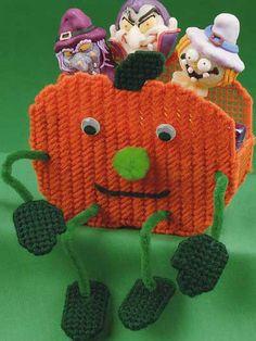 Plastic Canvas - Special Occasions - Halloween - Pumpkin Treat Sitter - #FP00442