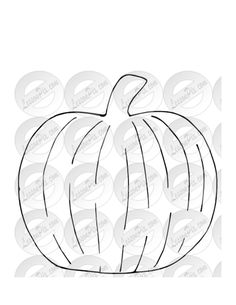 pumpkin patterns for quilting | Flip your pattern over, and trace the outline of the pumpkin on the ...