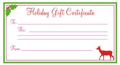 Need a last minute christmas gift free printable for Eyelash extension gift certificate template