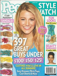 People Style Watch magazine Blake Lively Summer sandals Beauty bargains Dresses