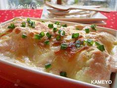 めんたい豆腐クリームグラタン♪絹ごし豆腐ぐるぐるだけ!|レシピブログ