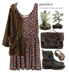 """Petrichor"" by evangeline-lily ❤ liked on Polyvore featuring V AVE SHOE REPAIR, Priestley's Vintage, Anna Sui and Crate and Barrel"
