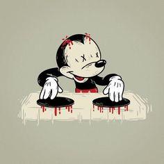 Bloody DJ - Lutfi Zayed Illustrations