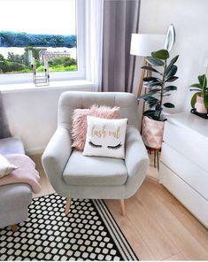 home accents ideas Lash Room Decor amp; Living Room Designs, Living Room Decor, Bedroom Decor, Bedroom Chair, Bedroom Ideas, Deco Studio, Lash Room, Cute Room Decor, Spa Rooms