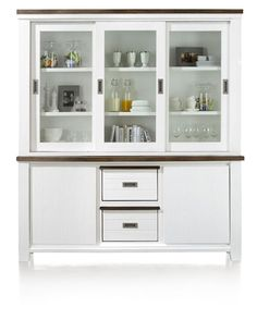 Cupboard Velasco with two reversible drawers, which have one brown and one white side