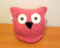 Pink hedgehog tea cosy fits standard 40 fl by CraftyCornishMaids