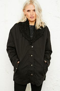 BDG Jacket With Sherpa Collar