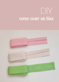 La mar de ideas DIY: CURSO ONLINE - APRENDE A COSER 10 - CÓMO COSER BIES Sewing Hacks, Sewing Tutorials, Sewing Patterns, Custom Closets, Bias Tape, Love Sewing, Sewing Projects For Beginners, Learn To Sew, Diy Clothes