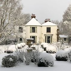 And into a world of Beauty. The Three Graces: Elegance, Beauty, Flair. Gentility, Serenity and the Indefinable ability to Delight. Long Winter, Winter Garden, Good Vibes, Curb Appeal, My House, Cottage, Exterior, House Design, Mansions