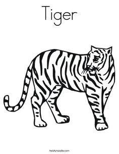 tiger coloring page that you can customize and print for kids - Coloring Pages Tigers Print