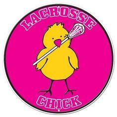 Lacrosse Chick Aluminum Room Sign