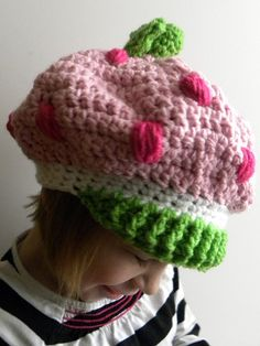 CROCHET PATTERN  Strawberry Shortcake Inspired Hat