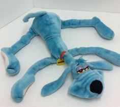 "Foofur Vintage Plush Dog Dakin 24"" Large Size Blue Red Collar 1984 Phil Mendez #Dakin"