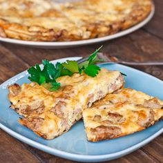 Mushroom and Sausage Frittata - perfect for breakfast any day of the week, or a weekend brunch.