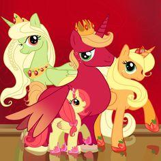 Applejack lives in a family of alicorns?!