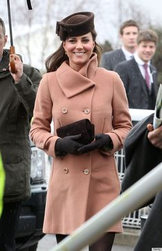 Kate Middleton's Short Coat Impresses At Cheltenham Races