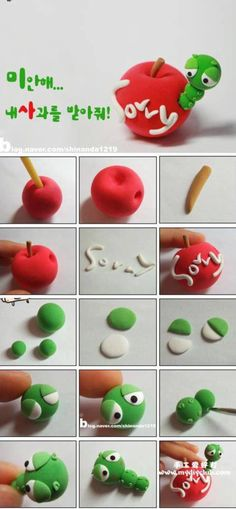 Fondant apple & bug tutorial