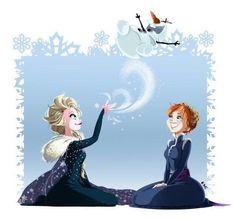 Elsa and Anna Disney Olaf, Disney Fun, Disney Style, Disney Films, Disney And Dreamworks, Disney Pixar, Olaf Frozen, Disney Frozen, Frozen Heart