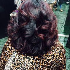 Dark And Violet - Black Hair Information Community Love Hair, Great Hair, Big Hair, Gorgeous Hair, Sassy Hair, Amazing Hair, Rosie Huntington Whiteley, Violet Black Hair, Burgundy Hair