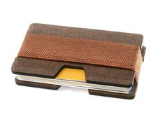 The Isooak Slim Wood Wallet takes the popular metal plate wallet design and replaces the metal plates with 2 beautiful pieces of wooden sheets.