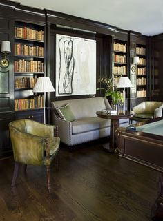 The settee in the billiard room /addition