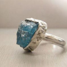 Raw stone ring.  love it.