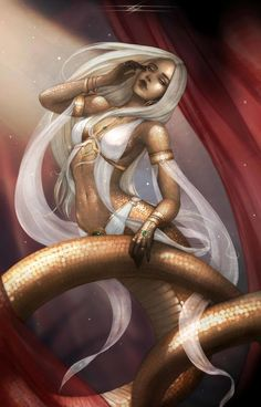 ArtStation - Tah & # s Isis Hiss, Ana Rone - - Kochen - Animals Dark Fantasy Art, Fantasy Girl, Fantasy Artwork, Mythical Creatures Art, Magical Creatures, Fantasy Character Design, Character Art, Gato Anime, Snake Art