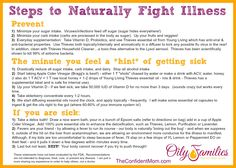 First steps to help fight off cold and flu naturally! Thieves is powerful and a great first action step, as well as rest, apple cider vinegar and more. #youngliving #oilyfamilies