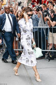 A family tradition: Victoria Beckham was pictured heading to Balthazar restaurant in New York following her hugely successful fashion show earlier that day