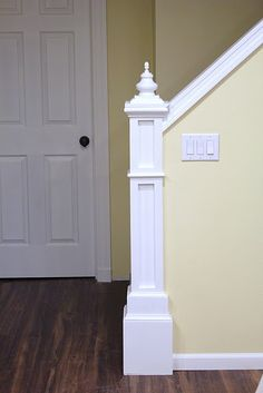 How to build a Newel post. This would look fabulous in my house!