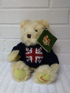 Harrods Teddy Bear Stuffed Animal Plush Soft Toys London England Jack Blue  (A29) Great Ideas