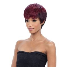 SAGA GOLD Remy Human Hair Wig CRANBERRY Remy Wigs, Remy Human Hair, Remy Hair, Human Hair Wigs, Saga Hair, Lux Hair, Short Wavy, Vintage Style Dresses, Wig Hairstyles