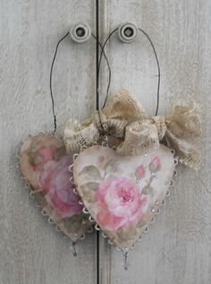 Romantic Roses and Rhinestone Oraments