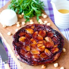 Shallot and goat's cheese tart tatin. For the full recipe, click the picture or visit RedOnline.co.uk