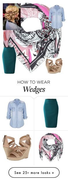 """the colors"" by rae1997 on Polyvore featuring Emilio Pucci, Joe's Jeans, LE3NO and maurices"