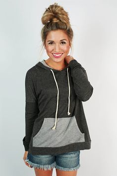 If you're a sneakers and boots kind of girl, this hoodie is perfect for you!