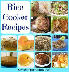 Rice Cooker Recipes... You can cook other stuff than rice in one of these deals?! No way!!!