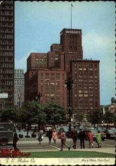 Vintage Postcard of J.L. Hudson's Department Store, Detroit, MI