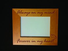 Personalized Memorial Frame with Actual by JOYfulLivingDesigns