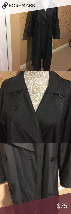 Neiman Marcus rain coat Long black trench coat, light with lining, brand new. Neiman Marcus Jackets & Coats Trench Coats