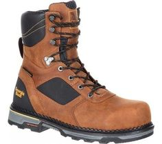 Georgia Boot Men's Hammer HD Composite Toe Waterproof 8' Work Boot, Size:  10.5