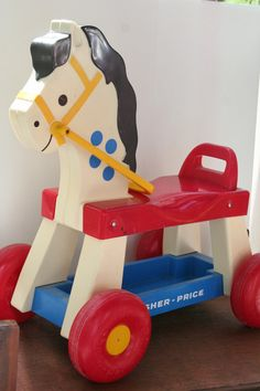 Vintage Fisher Price Horse Riding Toy, 1970s Vintage Childrens Outside Toy, Toddler Toy