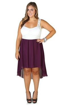 Plus Size Crochet Lace High Low Dress with Belted Waist #trixxi ...