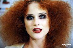 Rachel Evan Wood's Magenta makeup is sweet! #rockyhorror #halloween