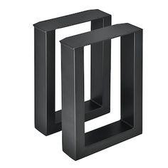 2x mesa bastidor banco bastidor piernas sofá mesa tischkufen 30x43cm negro