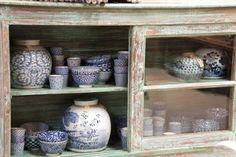 Parvani | Japanse schaaltjes, Chinese porseleinen potten blauw/wit.