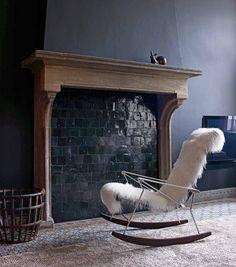 rocking-chair schaukelstuhl, schwarz oder weiß – 3 jahre garantie, Attraktive mobel