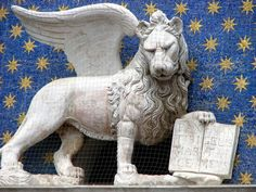 The winged lion of St.Mark, symbol of Venice.