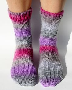 Hand knit socks. I think I have this pattern and failed miserably at it on my first attempt. Think I could tackle it now.